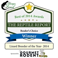 Elevages Lisard_Reader's Choice Winner_Lizard Breeder of the Year 2014