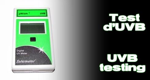 Élevages Lisard - Test d'UVB/ UVB Testing