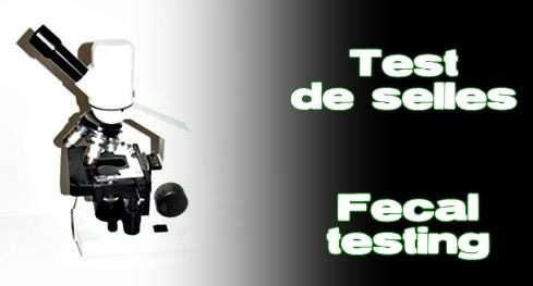 Élevages Lisard - Test de selles / Fecal Testing